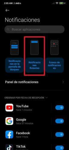 Cómo desactivar las notificaciones flotantes en MIUI de Xiaomi