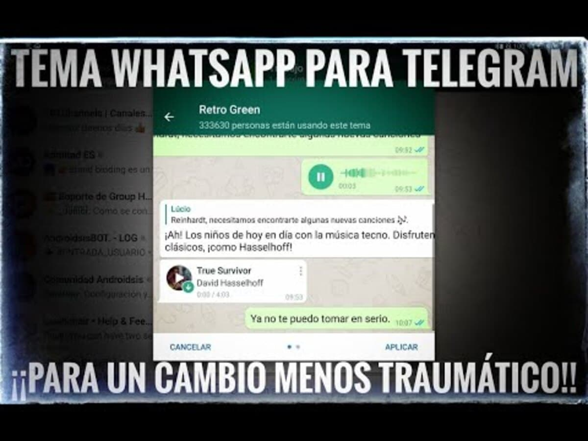 Tema WhatsApp Telegram