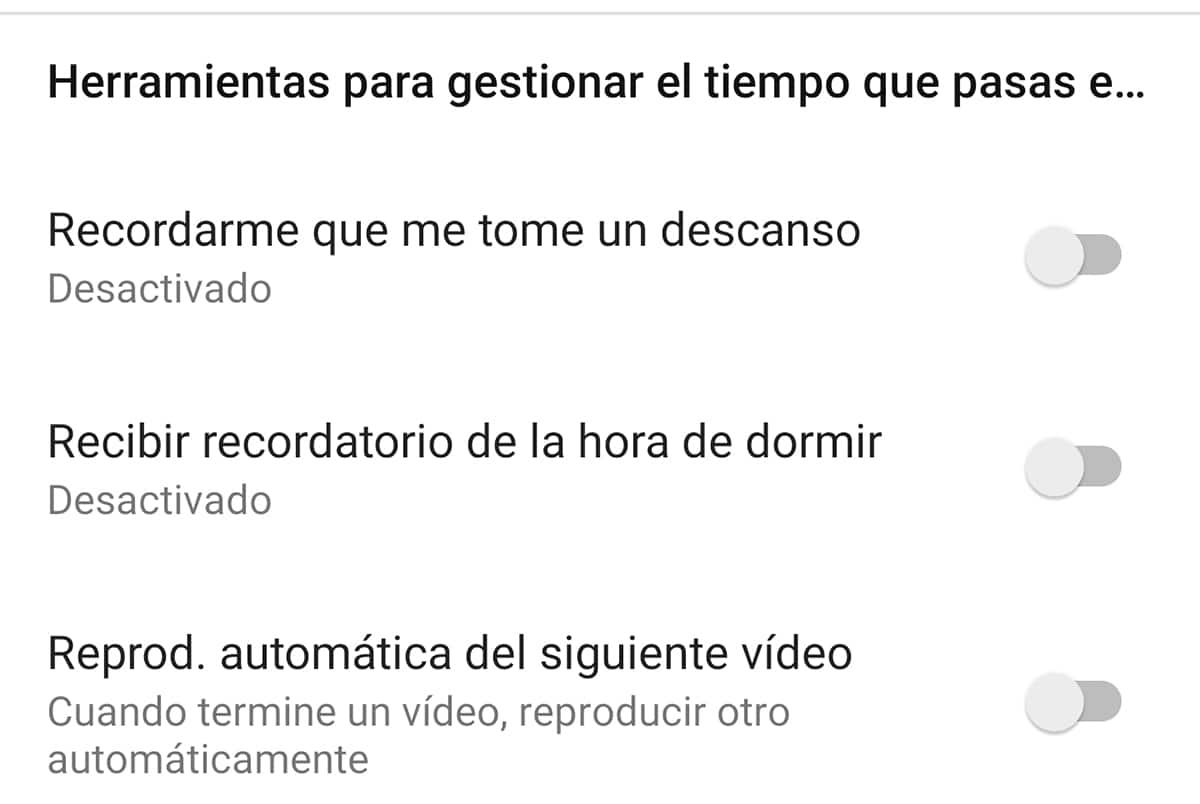 Limitar período de uso en YouTube