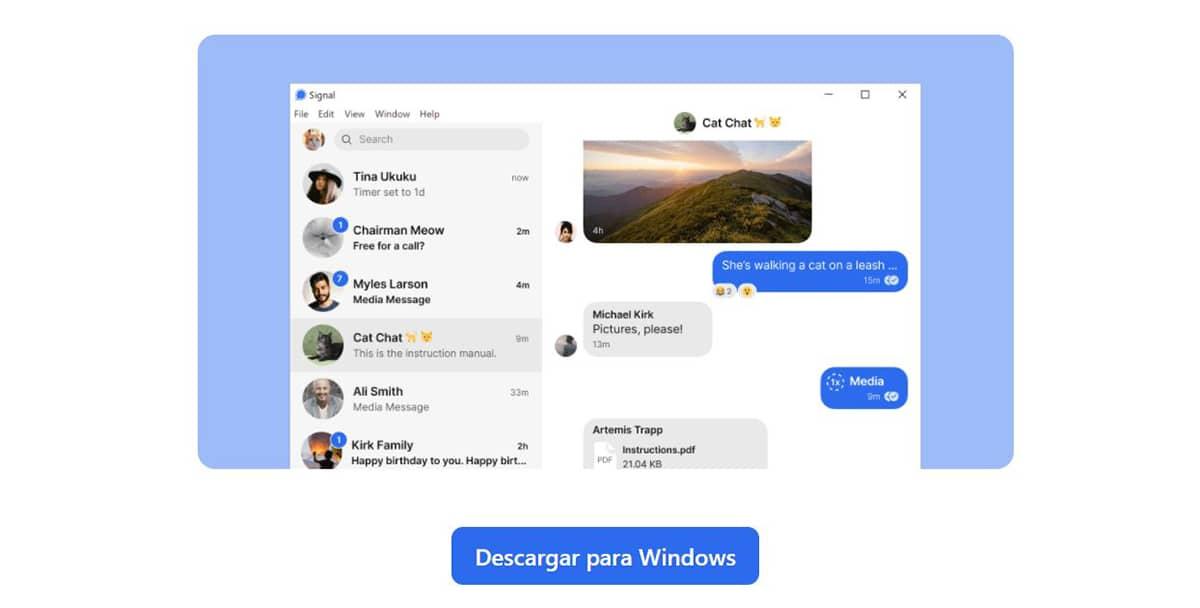 Signal en Windows