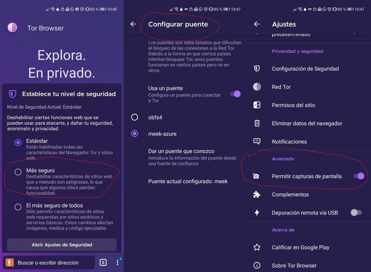 Configurar TOR Browser