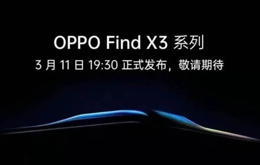 Fecha de lanzamiento del Oppo Find X3
