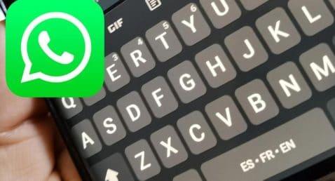 Teclado cambio idioma WhatsApp