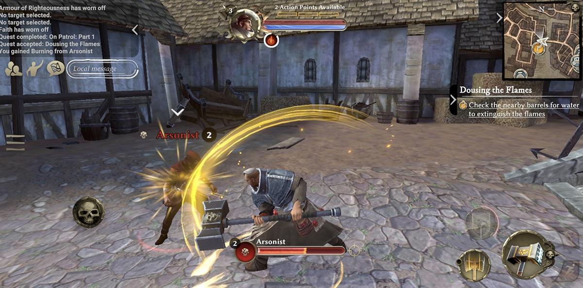 Combate en Warhammer Oddisey