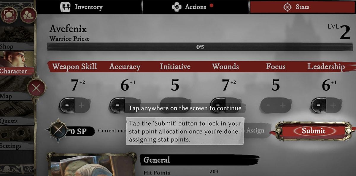 Habilidades en Warhammer Oddisey