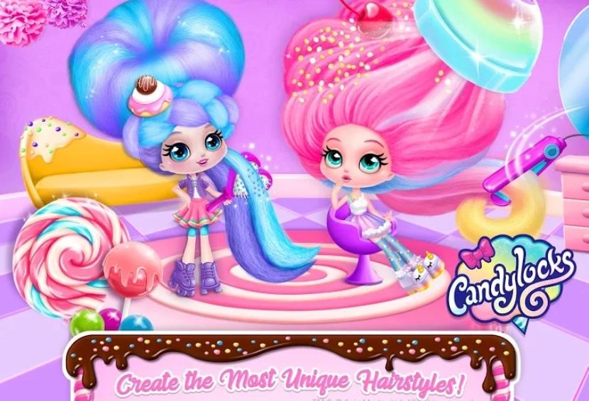 Candylocks Hair Salon - Style Cotton Candy Hair
