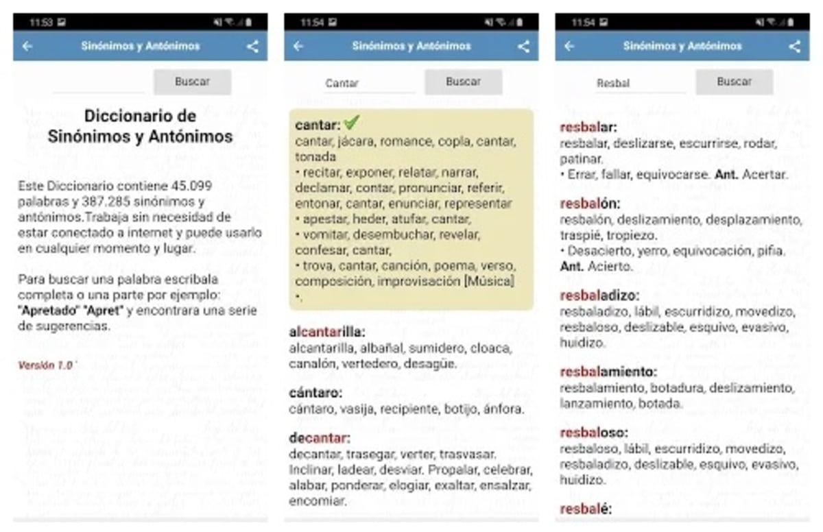 Diccionarios Sinonimos