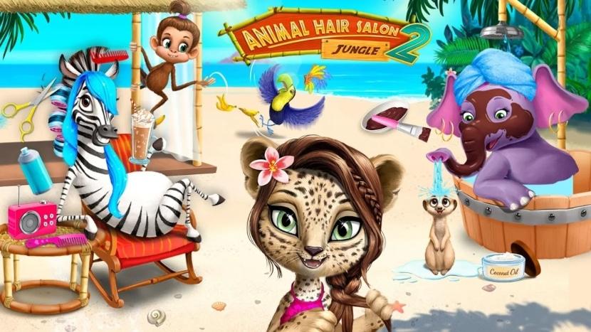 Jungle Animal Hair Salon 2 – Salón de belleza