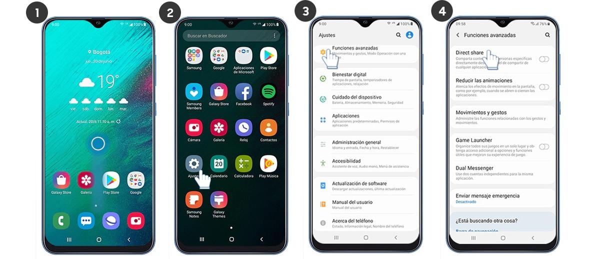 Activar Quick share de Samsung