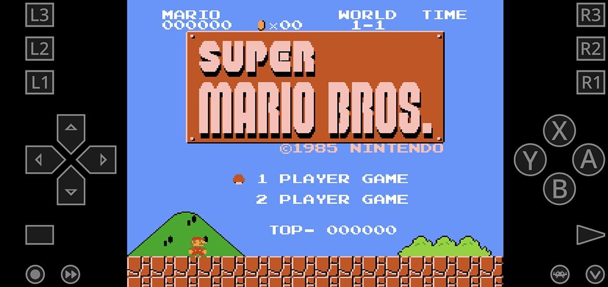Super Mario Bros en Retroarch