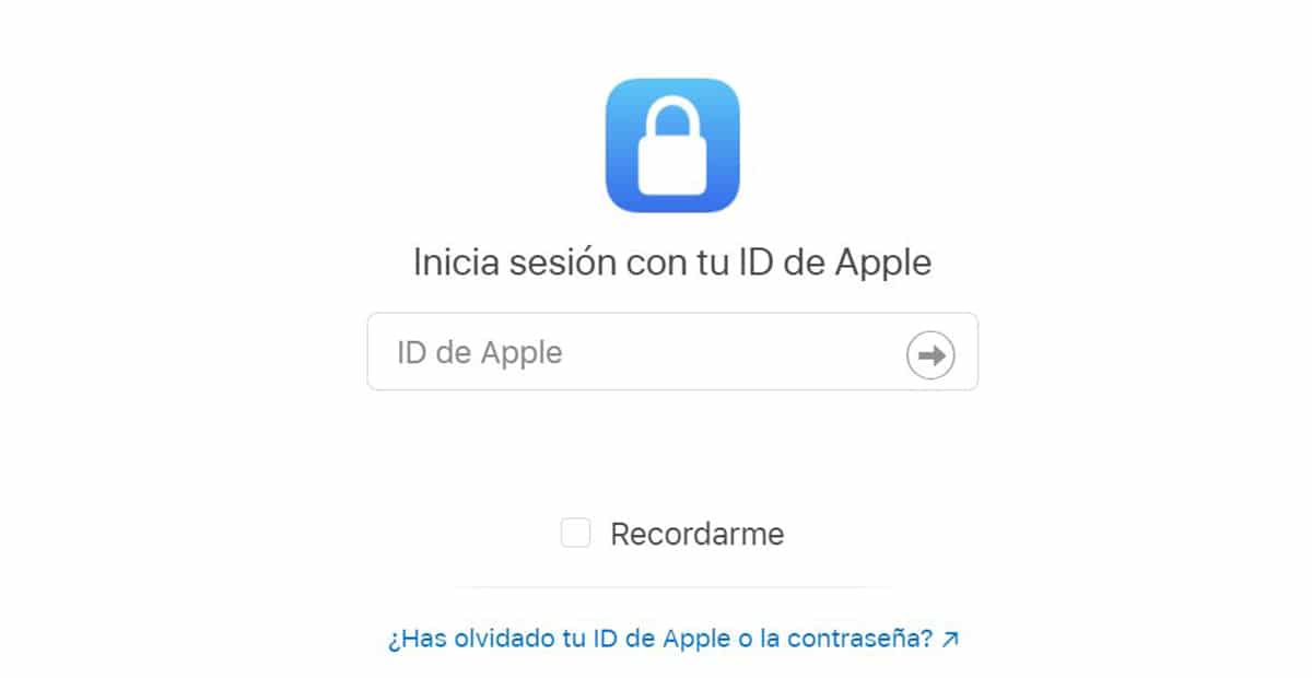 Inicia sesión en Apple