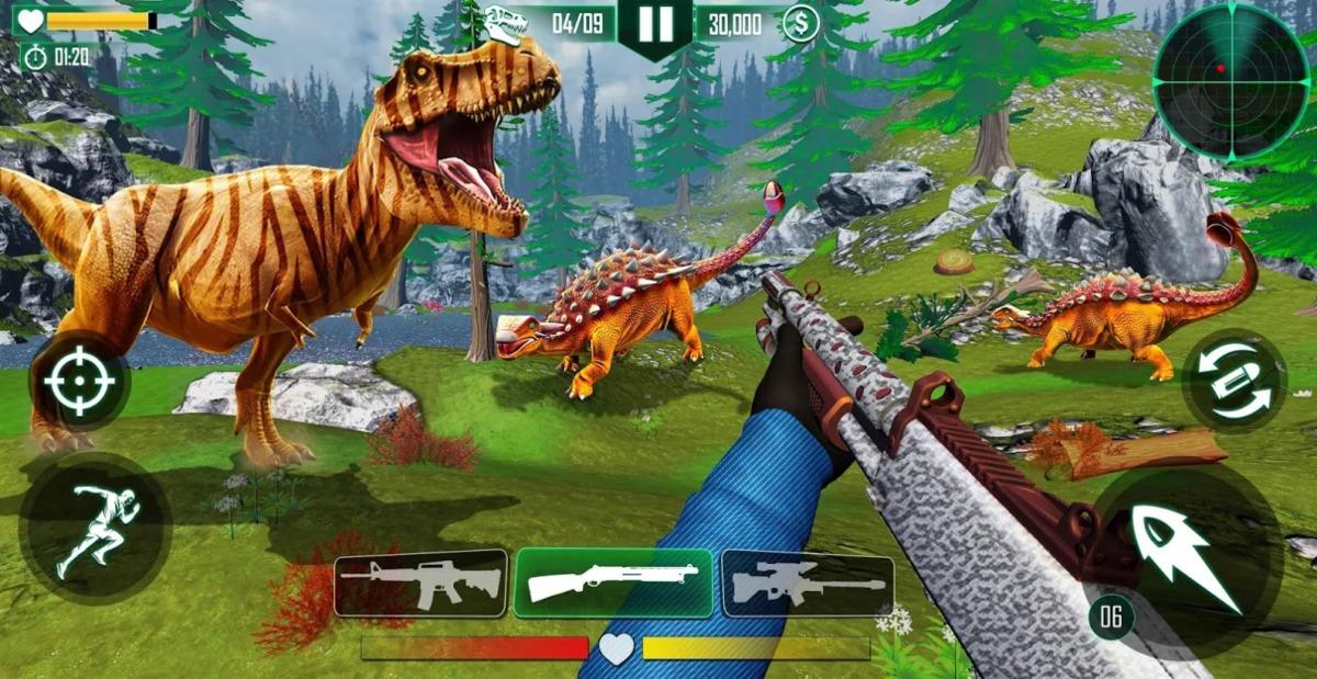 Juegos de matar dinosaurios
