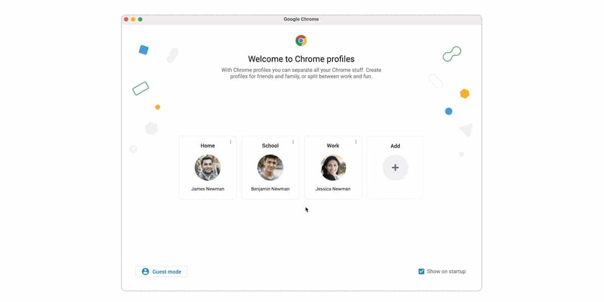 Perfiles personalizados en Chrome