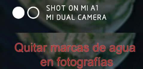 Quitar marcas de agua en Fotografías