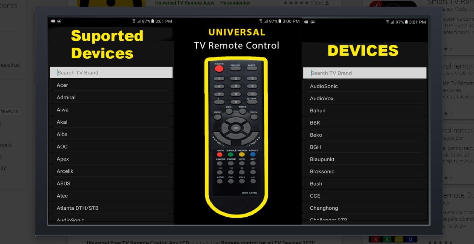 universal free tv remote