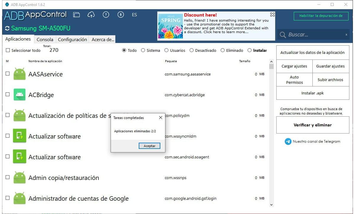 App control desinstalar aplicaciones preinstaladas