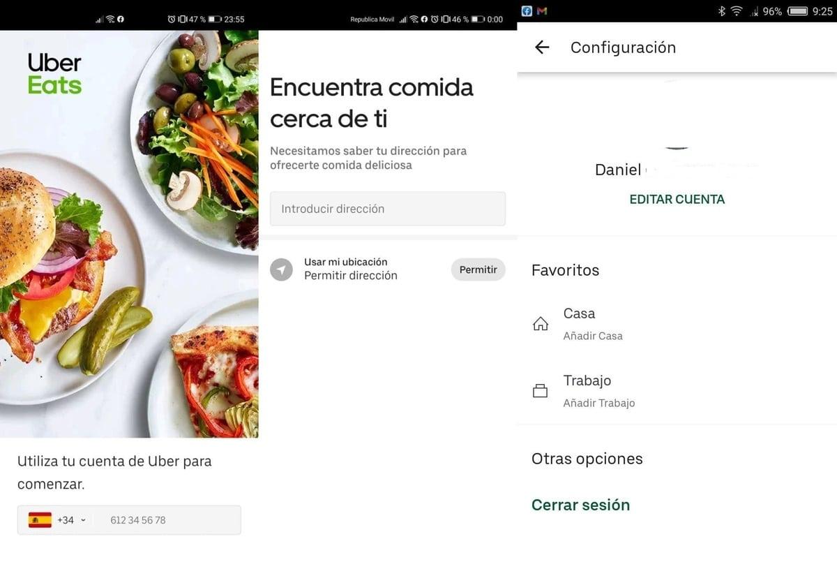 App Uber Eats