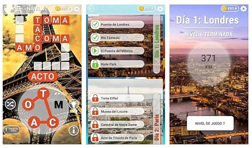 Ciudades Palabras: Mejor juego crucigrama gratis
