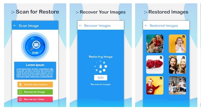 Aplicación de recuperación de fotos