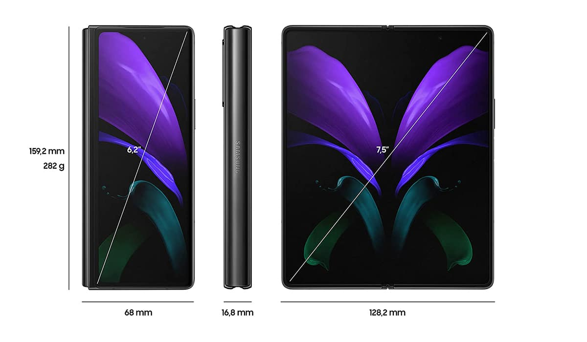Dimensiones Galaxy™ Fold 2