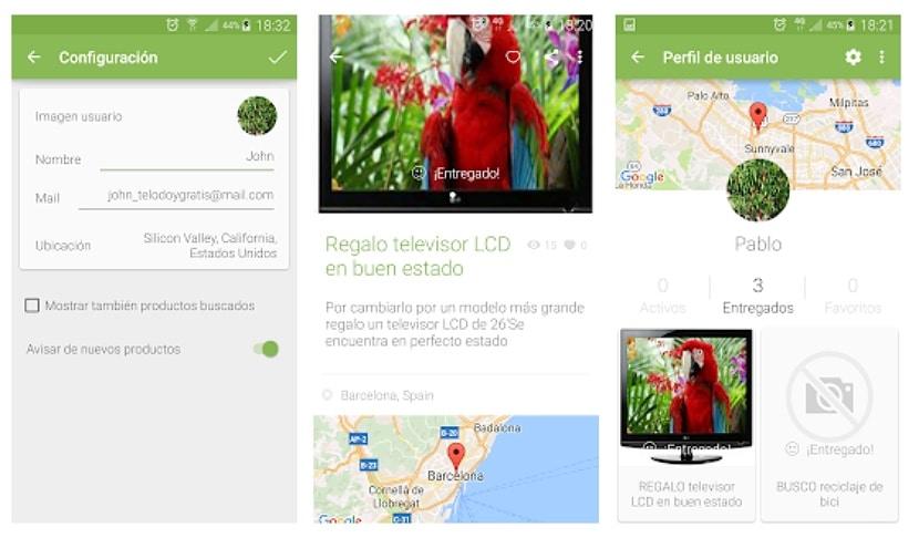 Telodoygratis - app para reciclar y regalar cosas