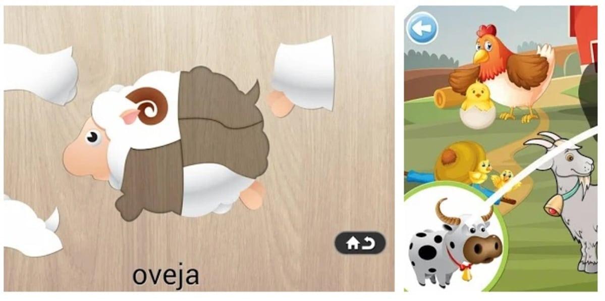 Puzzle animales niños
