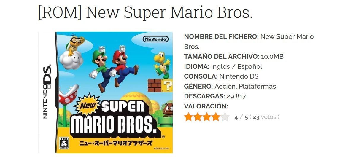 Emulador Mario Bross