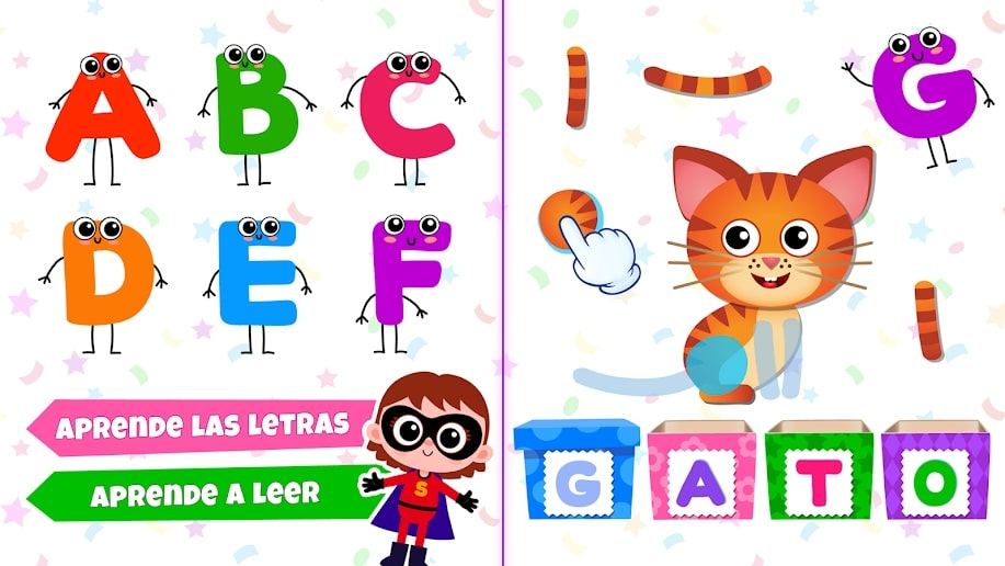 ABC Juegos educativos para niños! Aprender a leer!