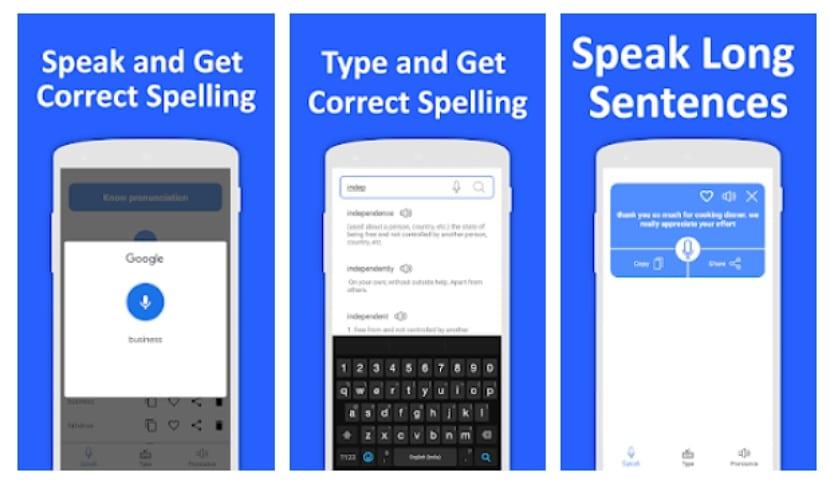 Corrector de ortografía: hablar y verificar
