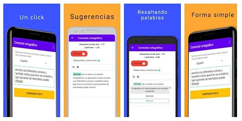 Corrector ortográfico en español