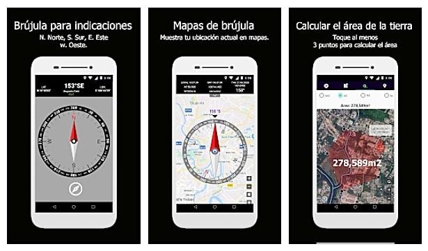 Mapas de brújula: brújula unidireccional