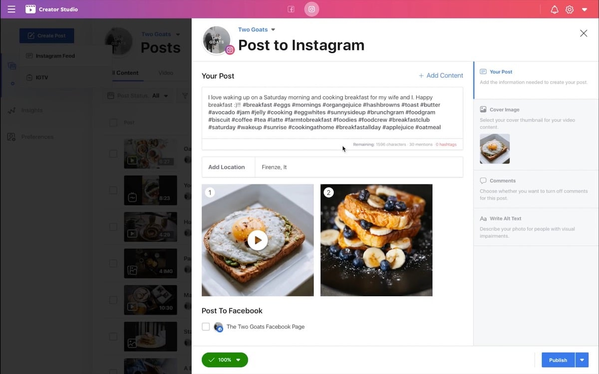 Programar publicación Instagram