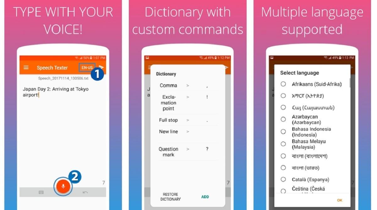 Speechtexter - transribir audio a texto