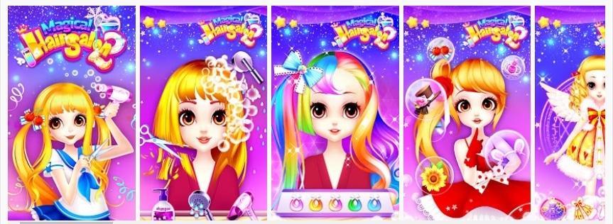 Magical Hair Salon 2: Girl Makeover & Dress up