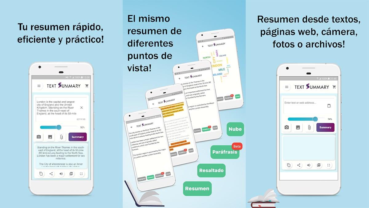 Apliaciones resumir textos en Android