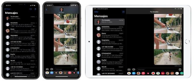recibir SMS en el iPad