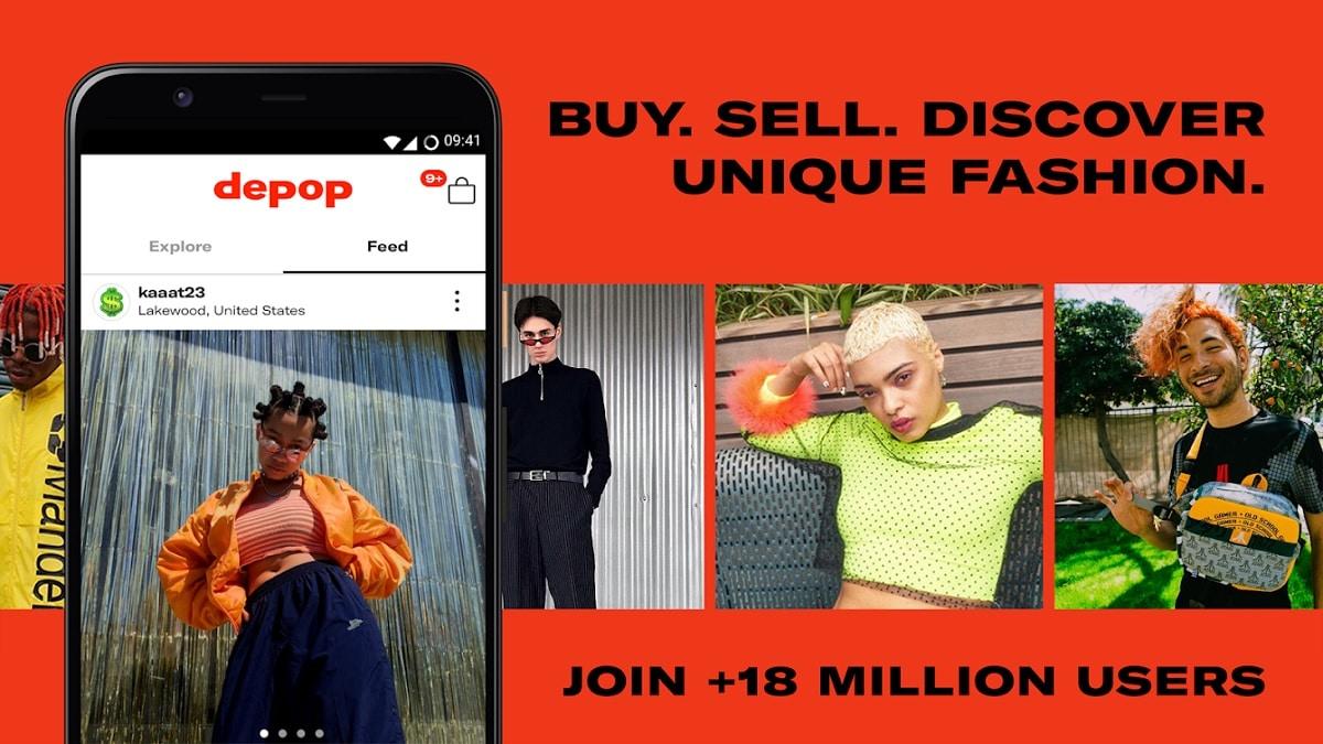 Depop vende ropa