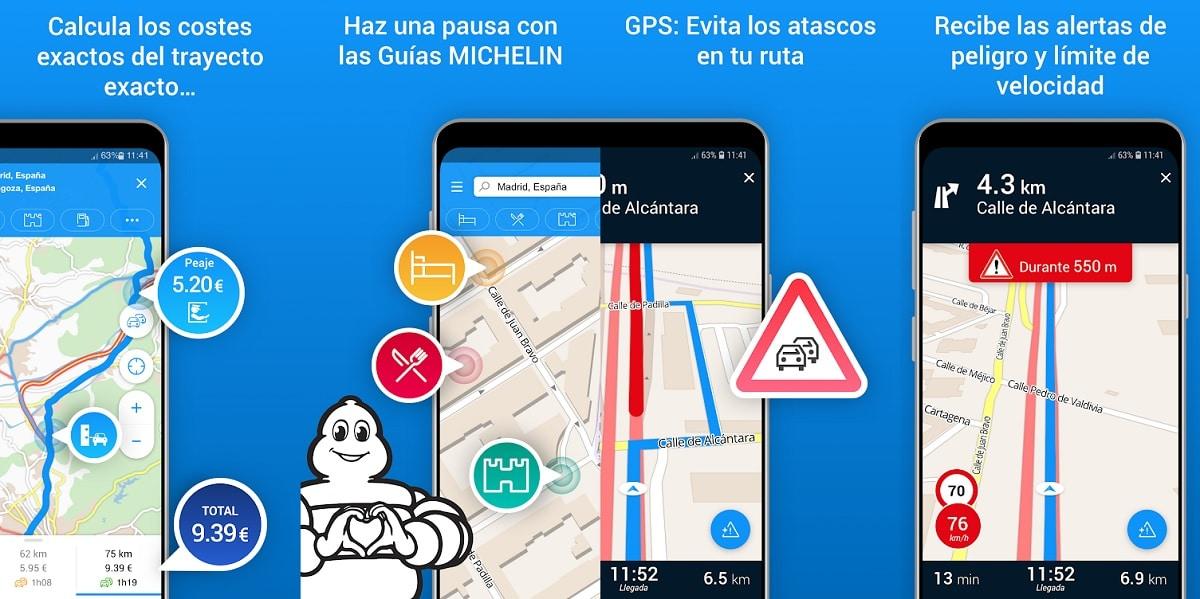 ViaMichelin app GPS Android