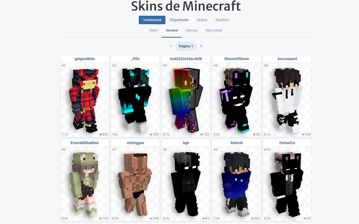 NameMC - Skins para Minecraft
