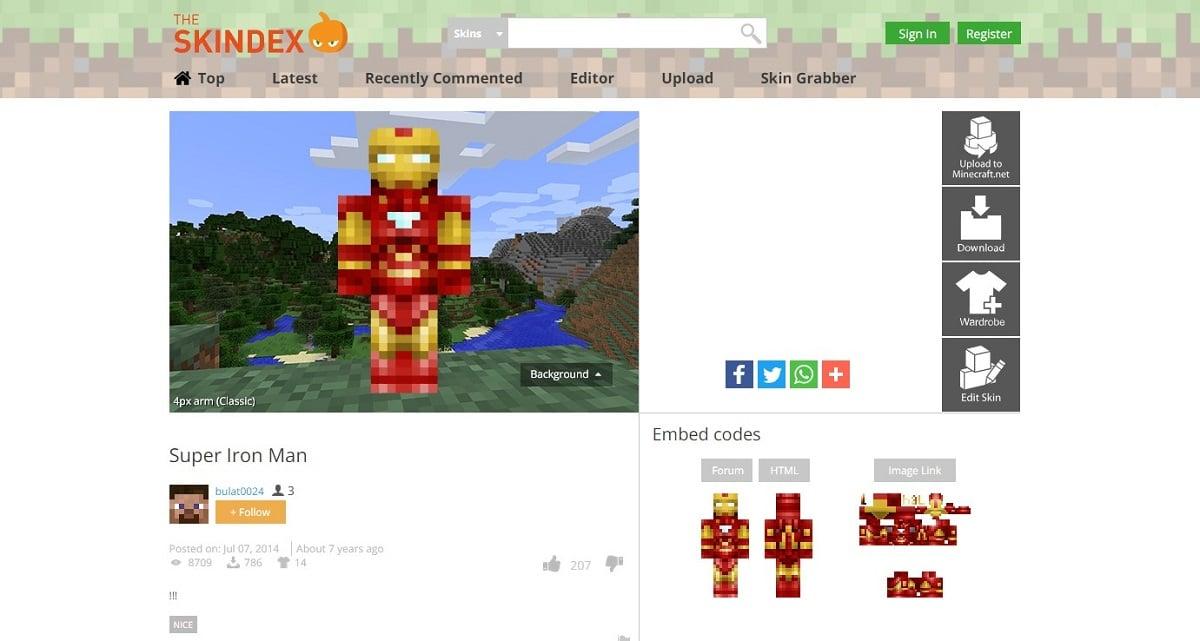 The Skindex - Skins para Minecraft