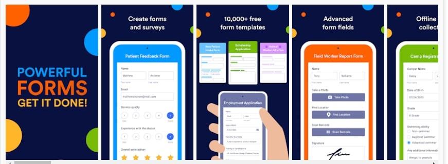 Formularios móviles Jotform