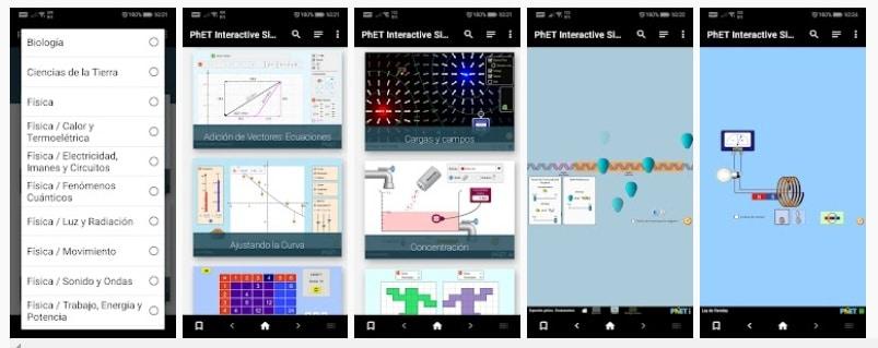 Simulaciones de química y física
