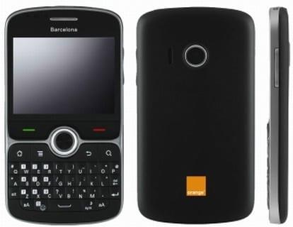 Orange Barcelona: Un smartphone Android con pantalla táctil y teclado físico