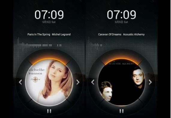 Controles de música MIUI con pantalla bloqueada