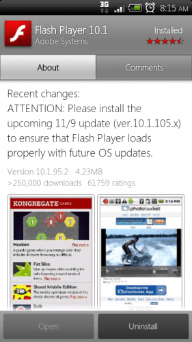 Flash Update 281x500 Adobe flash se prepara para la llegada de Gingerbread