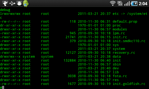 Pantallazo Terminal Emulator