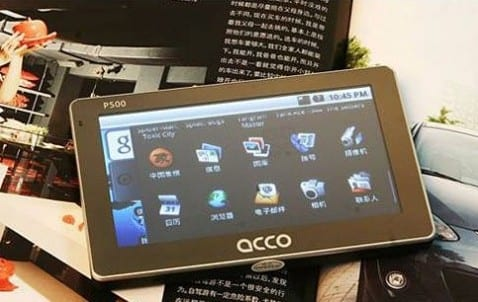 ACCO P500, GPS con Android