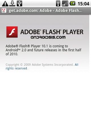 Adobe Flash 10.0 para Android el próximo año