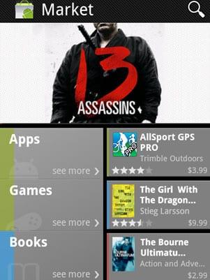 Nueva versión del Android Market ofrece alquiler de películas y venta de libros