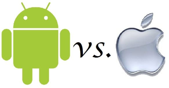 android v apple Android sigue ganando terreno a su eterno rival IOS